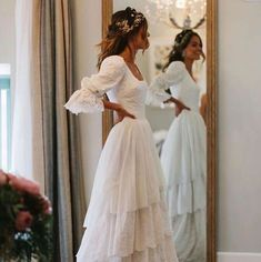 The Bridal Fashion Week for 2020 has come and gone, and it did not disappoint. If you love the classic style of Audrey Hepburn and other mid-century classic Best Wedding Dresses, Boho Wedding Dress, Boho Dress, Wedding Gowns, Lace Wedding, Wedding Day, Rustic Wedding, Tiered Wedding Dresses, Wedding Quotes