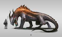 Copperback Dragon, Felipe Escobar on ArtStation at https://www.artstation.com/artwork/copperback-dragon