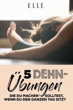 5 wichtige Dehnübungen, wenn du den ganzen Tag sitzt Five stretching exercises to do when you sit all day # exercises You only need 10 minutesIf You're In Pain, STARTAdieu fat pad: With di Month Workout Challenge, Workout Schedule, Workout Tips, Fitness Inspiration, Motivation Inspiration, Yoga Routine, Beachbody Workout, Easy Workouts, At Home Workouts