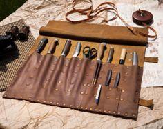 Comercial encerado rollo de cuchillo del Chef por TheMeditationRoom
