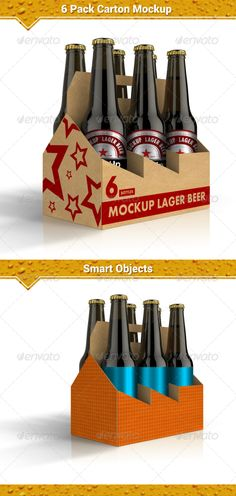 6 Pack Carton Mock-Up   http://graphicriver.net/item/6-pack-carton-mockup/8048206?ref=damiamio