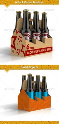 six pack carrier template - beer packaging 6 pack carrier design template troquel