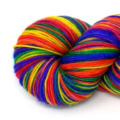 Rainbow Self-Striping Hand-Dyed Yarn in Castro Pride by WanderlustHues on Etsy https://www.etsy.com/listing/508635276/rainbow-self-striping-hand-dyed-yarn-in