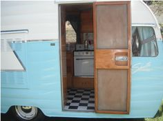 Here is a restored old Vintage Shasta trailer for sale. It's a canned ham style in a baby doll blue color. The camper is a long Birchwood Beauty with new upholstery, wiring, and several other interior and exterior features. Cool Campers, Campers For Sale, Trailers For Sale, Happy Campers, Shasta Trailer, Shasta Camper, Camper Trailers, Vintage Rv, Vintage Campers