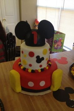 Mickey Mouse Cake -Aarian's 1st Birthday