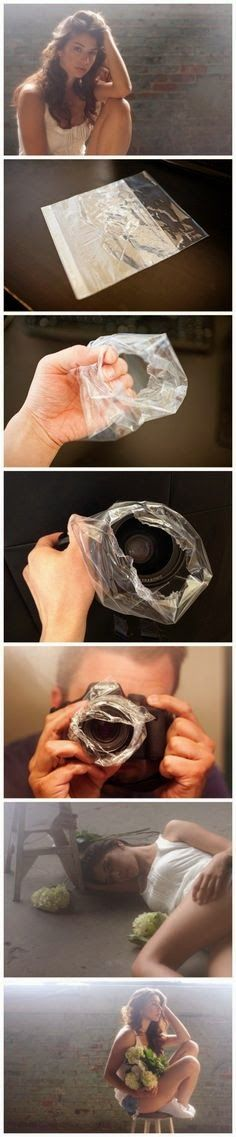 Works! try it with just Saran wrap, flowers, tissue paper push yourself creatively