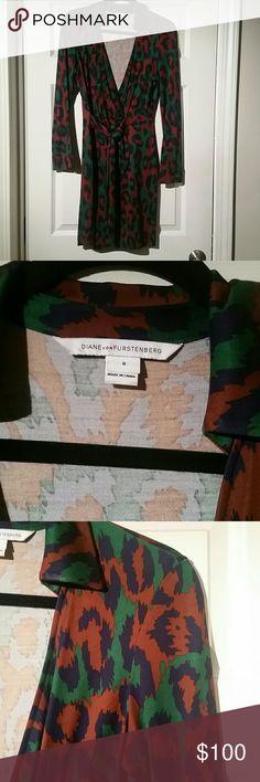 DVF Dress Long sleeved DVF Dress size 8 silk jersey Diane von Furstenberg Dresses