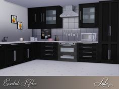 Essentials Kitchen by Lulu265 at TSR via Sims 4 Updates