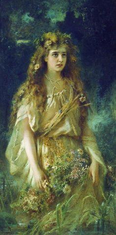 another Ophelia painting by Konstantin Makovsky