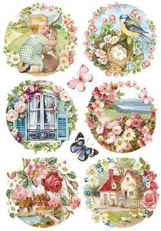 of sheet ) Luxury Craft Decoupage Rice Paper. Very thin and durable white paper is excellent for decoupage. and although colour and detail are captured. do not wash themselves and can not wear off. Vintage Cards, Vintage Paper, Vintage Postcards, Vintage Pictures, Vintage Images, Rice Paper Decoupage, Decoupage Box, Paper Art, Paper Crafts
