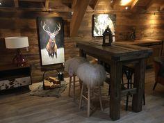 Ambiance cosy et montagne dans un salon avec Lecoinmontagne #montagne #decoration #cosy #salon #mountain