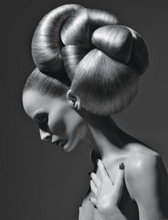 Photo by Sølve Sundsbø  Now this, this is a hairDO! Forget the Easter bonnets, it's all about the updo.