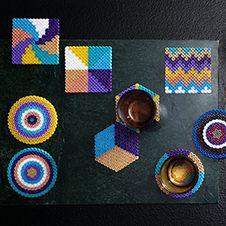 Onderzetters gemaakt met hama strijkkralen #pipoos #diy #hama C2c Crochet, Marianne Design, Inspirational Gifts, Perler Beads, Diy Gifts, Butterfly, Decoupage, Fun Stuff, Diy Ideas
