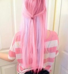 cotton candy colored hair'