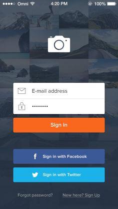 32 Modern App Sign In / Login Screen UI Designs