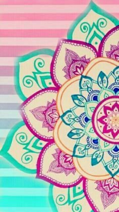 Mandala Wallpaper, Wallpaper World, Colorful Wallpaper, Galaxy Wallpaper, Flower Wallpaper, Mobile Wallpaper, Mandala Art, Mandala Drawing, Mandala Design