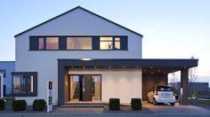 Irgendwie cool gelöst: Auffahrt und Hauseingang überdacht und beleuchtet!: