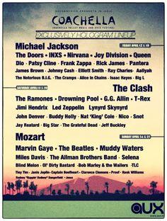 Coachella Exclusive Hologram Lineup!