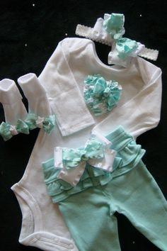 NEWBORN+baby+girl+take+home+outfit+complete+by+BeBeBlingBoutique,+$45.00