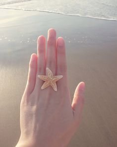Mermaid starfish ring(: