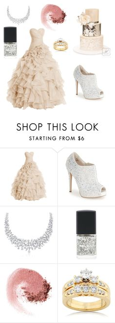 """Wedding"" by parisluv ❤ liked on Polyvore featuring beauty, Lauren Lorraine, SHADE Collection, NARS Cosmetics, Kobelli and weddingday"