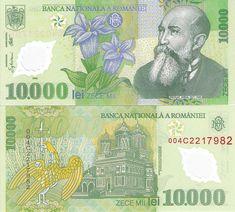 RUMANIA - 10000 LEU´s 2000 Bank Account Balance, Money Notes, Coin Collecting, Ephemera, Vintage World Maps, Nostalgia, Geek Stuff, Banknote, Retro