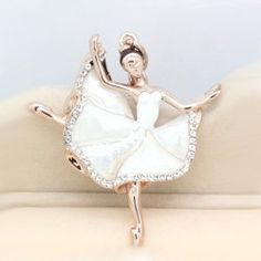 New Lovely Crystal Fritillaria Ballet Girl Bag Charm/key Chain