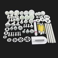 68Pcs Fondant Cake Decorating Sugarcraft Plunger Cutter Tools Mold Mould Cookies > Additional details at the pin image, click it : Baking Accessories