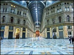 Napoli - Galleria Umberto I (Night view), province f Naples, Campania region Italy