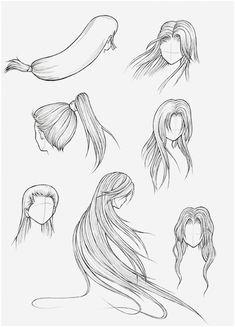 Drawing Tutorials Online, Art Tutorials, Anime Drawing Tutorials, Hair Reference, Art Reference Poses, Drawing Reference, Art Drawings Sketches, Cool Drawings, Easy Hair Drawings