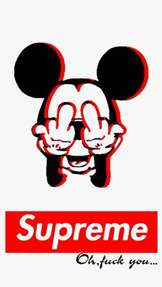 #middlefinger #supreme #mickeymouse #mickey #mouse #wallpaperiphone #wallpaper #iphone