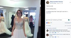 FOX NEWS: Widower shares photo of late wife in wedding dress she never wore A man whose wife died of cancer two weeks before their Feb.