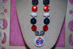 Chunky Bead Bottle Cap Necklace  Arizona by beadazzledkiddos, $17.00