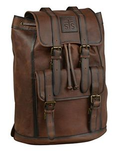 StS Ranchwear Western Bag Leather Buckle Backpack Brown STS30520 * Read more  at the image link.