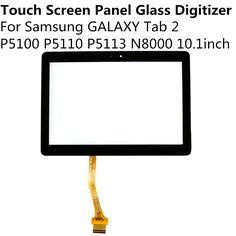 Noir Blanc Écran Tactile Panneau En Verre Digitizer Pour Samsung GALAXY Tab2 P5100 P5110 P5113 N8000 10.1 pouce Remplacement Pièces De Rechange