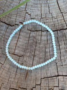 Bracelet de cheville , enkelbandje , ankle bracelet , perles a facettes de la boutique Peaceandlovebyme sur Etsy