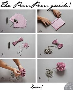DIY interior ideas // how to make a pom pom