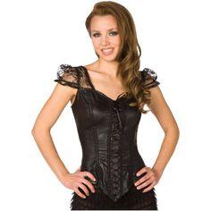 Black Flirty Top Adult Halloween Costume, Women's, Size: Medium
