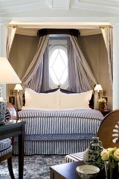 Home Decor – Bedrooms : Gorgeous canopy bed at Le Dokhan's Boutique Hotel, Paris. This romantic hotel is within a walk of Place du Trocadero and Palais de Chaillot. Arc de Triomphe and Eiffel Tower are also within… -Read More – Decor, Home Bedroom, Bedroom Interior, Bedroom Design, Guest Bedrooms, Interior, Dreamy Bedrooms, Bedroom Decor, Home Decor