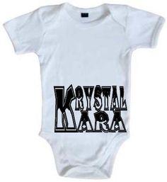 Body bébé 100% coton  modèle ICE-BLC  dispo sur www.krystalkara.com