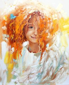 """Painting """"Red-haired Angel"""""""