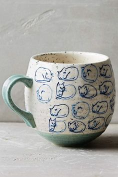 <br> As a dedicated cat lover myself, I can tell you personally that finding holiday gifts for cat lovers is one of my favorite things ever. There are few things I like more than an item with unnecessary cat ears or whiskers on it. I mean, why drink out… Crazy Cat Lady, Crazy Cats, Ceramic Pottery, Ceramic Art, Tassen Design, Keramik Design, 21st Gifts, Cat Mug, Cat Lover Gifts
