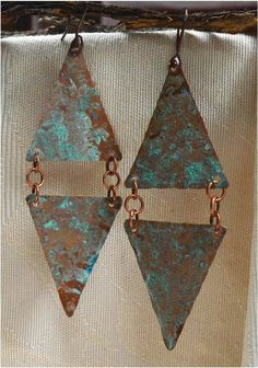 Hammered Rustic Copper Earrings by SunStones on Etsy, $9.95