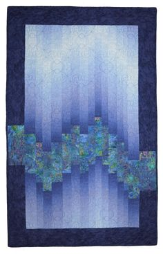#ombre #quilt #ideas #ombrequiltideas Motifs Bargello, Bargello Quilt Patterns, Bargello Quilts, Modern Quilt Patterns, Jellyroll Quilts, Strip Quilts, Easy Quilts, Mini Quilts, Quilting Projects