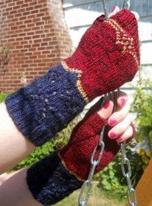Wonder Woman fingerless mitts by Devon Monk