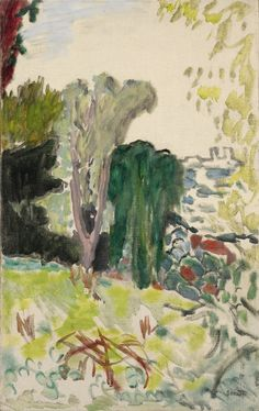Pierre Bonnard 1867 - 1947 VUE SUR ANTIBES stamped Bonnard (lower right) oil on canvas 57.3 by 36cm., 22 5/8 by 14 1/8 in. Painted circa 1922.