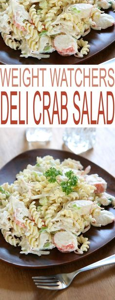 Weight Watchers Deli Crab Salad is a healthy dinner recipe just in time for your weight loss goals.