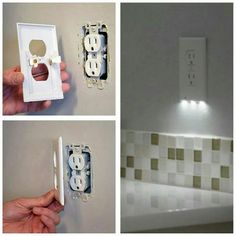 Outlet cover that is also a nightlight.