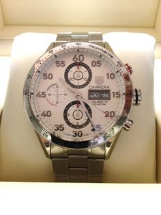 TAG HEUER CARRERA CHRONOGRAPH AUTOMATIC DAY DATE WATCH CV2A11