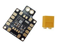 Usmile XT60 Power Distribution Board PDB with 5V&12V Output Support up to 6 esc for X design FPV Racing Quadcopter Frame >>> Visit the image link more details.